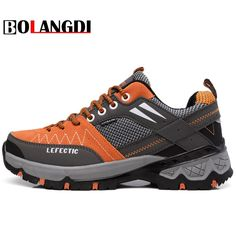 a8865bc9e6 Bolangdi 2017 New Anti-Slippery Men Hiking Shoes Outdoor Climbing Mountain  Hunting Trekking Fishing Brand