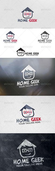Home Geek - Logo Design Template Vector #logotype Download it here: http://graphicriver.net/item/home-geek-logo-template/6206019?s_rank=1069?ref=nexion