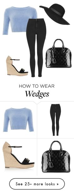 """""""Untitled #1684"""" by ncmilliebear on Polyvore featuring Topshop, Gucci, Louis Vuitton, women's clothing, women's fashion, women, female, woman, misses and juniors"""