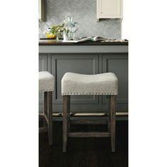 Rumford Saddle 24 Counter Stool Gray Linen - Threshold
