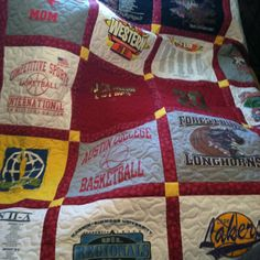 My tshirt quilt from Mom for my birthday!!