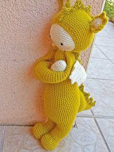 DIRK the dragon made by brigitte66 / crochet pattern by lalylala