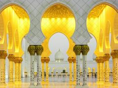 Although the Sheikh Zayed Grand Mosque has only been around for less than a decade, its regal architecture has already made it the crown jewel of Abu Dhabi—and one of the largest mosques in the world.