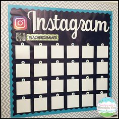 Love this Instagram inspired bulletin board! Just switch out the pictures every…