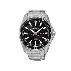 Ανδρικό ρολόι SEIKO SNE393P1 Solar με μαύρο καντράν, ημέρα, ημερομηνία και ανοξείδωτο ατσάλινο μπρασελέ με κούμπωμα ασφαλείας   ΤΣΑΛΔΑΡΗΣ στο Χαλάνδρι #seiko #solar #μαυρο #μπρασελε #tsaldaris Seiko Watches, Casio Watch, Latest Fashion, Watches For Men, Stuff To Buy, Accessories, Gender, Colour, Trends