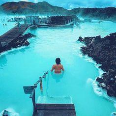 Blue Lagoon, Grindavík, Iceland Courtesy of @threeifbysea edited by @izkiz