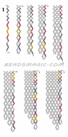 Free pattern for necklace Mexico in native style. U need : seed beads Seed Bead Tutorials, Beading Tutorials, Beading Patterns Free, Weaving Patterns, Free Pattern, Bead Patterns, Color Patterns, Beaded Jewelry Designs, Seed Bead Jewelry