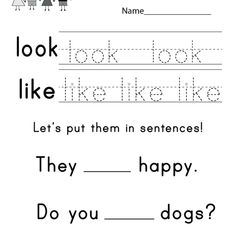 First grade sight words printable free homeschool worksheets free kindergarten sight words worksheets learning words visually with kindergarten sight words printables ibookread ePUb