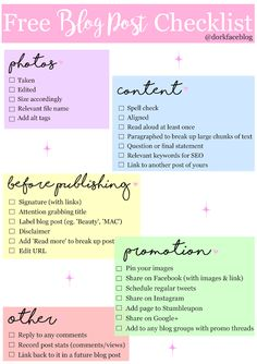 Free Blog Post Checklist Bullet Journal For Men, What Is Search Engine, Website Security, Free Blog, Data Visualization, Read Aloud, Blogging For Beginners, Blog Tips, Breakup