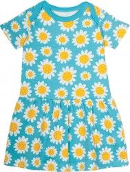 Frugi Baby Girls Dress, Aria Body Dress, Sunflowers (0-24mths)