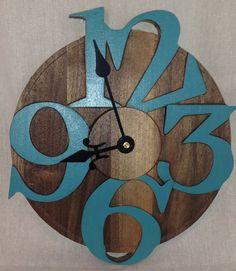 Walnut clock on Etsy