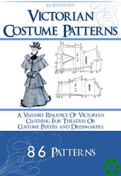 86 Victorian Costume Patterns on CD Design Your Own Theatre Costumes and Dresses | eBay