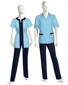 A modern and sleek approach to classic Housekeeping UNIFORMS. All colors and fabrics are selected to specifically fit your climate and laundering needs. Waiter Uniform, Spa Uniform, Hotel Uniform, Scrubs Uniform, Office Uniform, Maid Uniform, Dental Uniforms, Staff Uniforms, Boys Uniforms