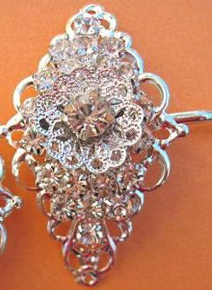Wedding Hair Clips Clips Vintage Victorian by MissJoansBridal, $27.50