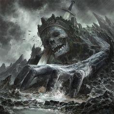 Dead Giant King in Border by godbo6