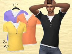 Simply Clothes II  http://www.thesimsresource.com/downloads/details/category/sims4-clothing-male-teenadultelder-everyday/title/simply-clothes-ii/id/1329160/