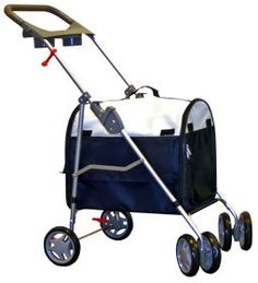 Blue Stroller & Carrier for Cats and Small Pets