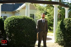 Elizabeth + Patrick's Wedding at Lenora's Legacy. Photo credit: Cureton Photography  Groom hanging out before first look.