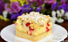 Тертый ванильный пирог-безе с ягодой малиной | Кулинарные рецепты от «Едим дома!»