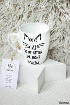 Kubek dla wielbicielki/wielbiciela kotów w Kika Handmade na DaWanda.com