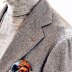 "ringjacket: "" Bird's eye pattern wool silk fabric. #ringjacket #madeinjapan #menswear """