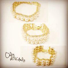 「NEW BRACELET #accessory #bracelet #pearl #bijou #old #onlylovedaily」