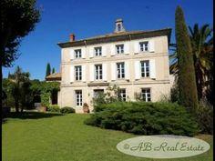 AB Real Estate France: Large 19th Century Maison de Maître For Sale in Pezenas area