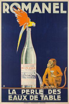 1915 Vintage Romanel, Aperitif Advertisement Poster Art Print by JA(c)anpaul Ferro - X-Small