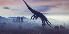 The Big Picture: 'Mass Effect' Reapers invade Los Santos Mass Effect Tattoo, Mass Effect 3, Mass Effect Reapers, Gta 5 Mods, Star Trek Ships, Big Picture, Statue Of Liberty, Science Fiction, Tourism