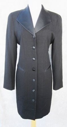 Brooks Brothers Dress Sz 6 Black Vintage Buttons Shawl Collar Pockets stitched #BrooksBrothers #Sheath #WeartoWork