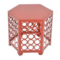 Red Accent Table @ Kohls