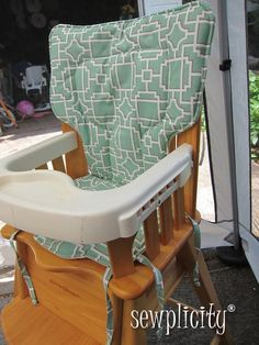 Eddie Bauer High Chair Cover - Seafoam Lattice