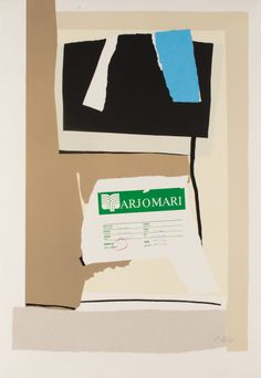 "struggleinc: "" ROBERT MOTHERWELL America – La France Variations VII, 1984 Lithograph in colors with collage, on Arches Cover paper, the full sheet, I. 48 1/4 x 32 in (122.6 x 81.3 cm) S. 52 1/4 x 36..."