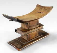 Africa | Stool from the Asante people of Ghana | Wood