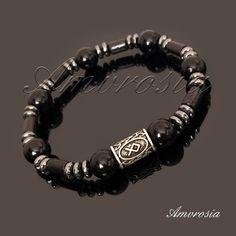 White quartz bracelet Futhark Rune bracelet Gemstone bracelet Viking Bracelet Viking jewelry Red howlite bracelet Energy bracelet