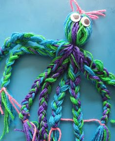 Learners in Bloom: Yarn Octopus and Jellyfish
