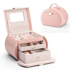 Ring Storage, Jewellery Storage, Jewelry Organization, Girls Jewelry, Jewelry Case, Cute Jewelry, Leather Jewelry Box, Wooden Jewelry, Feel Better Gifts