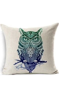 ME COO Animal pillow cover cushion decoration, cartoon printed lion wolf owl throw pillow case cushion cover 18 18Inches 1pcs Best Price