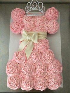 Photo of a Sweet Princess Cupcake Pull Apart cake Cupcakes Design, Cute Cupcakes, Cake Designs, Dress Cupcakes, Cupcakes For Girls, Purple Cupcakes, Ladybug Cupcakes, Kitty Cupcakes, Valentine Cupcakes