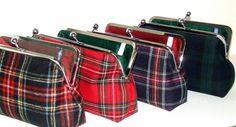 Royal Stewart Red Tartan Plaid Wool Clutch by FABbyCAB on Etsy,