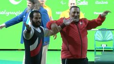 Powerlifters set new world records at Rio 09.09.2016 Egyptian Sherif Osman amongst those re-writing history books as he secures another gold medal on day two of Paralympics competition - Sherif Osman during the last powerlifting competition on Friday