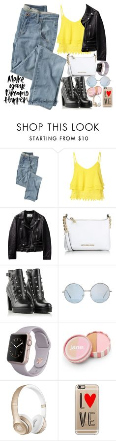 """Make Your Dreams Happen"" by fangirl-preferences ❤ liked on Polyvore featuring Wrap, Glamorous, Michael Kors, Diesel, jane, Beats by Dr. Dre and Casetify"