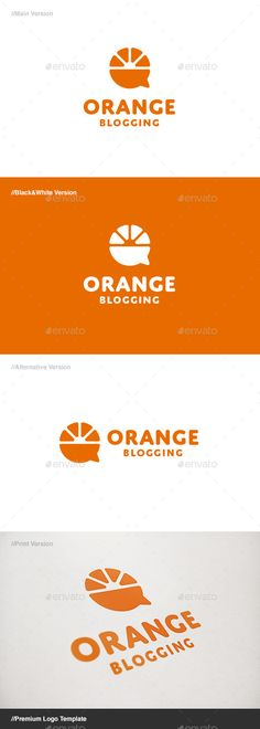Orange Blog: is a logo that can be used in blogs and web sites, chat software and applications, Web sites that provide information