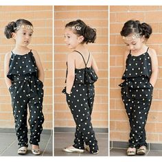 Neue Mädchen Baby Kinder Sling Overalls Overall Sommer Strampler Playsuit Pants … - Ideas Little Girl Fashion, Little Girl Dresses, Fashion Kids, Fashion Clothes, Fashion Dolls, Trendy Fashion, Fashion Tights, Summer Dresses For Girls, Fashion Trends
