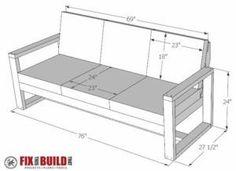 DIY Modern Outdoor Sofa Plans
