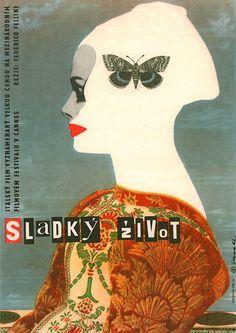 La Dolce Vita (1960). Czech poster, designed by Karel Vaca.