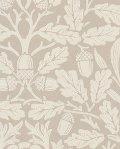 Tapet Pure Acorn Linen/Ecru från William Morris & Co William Morris Wallpaper, Morris Wallpapers, Cottage Wallpaper, Stair Landing, Arts And Crafts Movement, Wall Treatments, Acorn, Wallpaper Backgrounds, Interior Inspiration