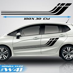 Honda Jazz, Honda Fit, Body Stickers, Car Stickers, Truck Decals, Vinyl Decals, Racing Car Design, Car Side, Pinstriping
