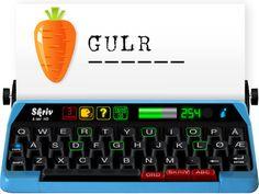 Skriv og Lær HD koster 13 kr. En fin app til at lære alfabetet og lære at stave.  Du kan sætte lydalfabetet til eller bogstavernes lyde. Så siger stemmen et bogstav, man skal vælge på skrivemaskinen. Der er også en del, hvor man frit selv kan skrive på skrivemaskinen eller øve ord. Under ord kan man få hjælpe ved at trykke på de grønne bogstaver, så kan man se de bogstaver, der skal med i ordet. Man kan også få hjælpe ved ?. Man får et buzz, hvis man vælger et forkert bogstav. 1 staves dog…