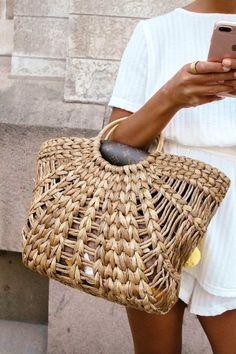 summer outfits  Basket Bag | Pinterest: Heymercedes